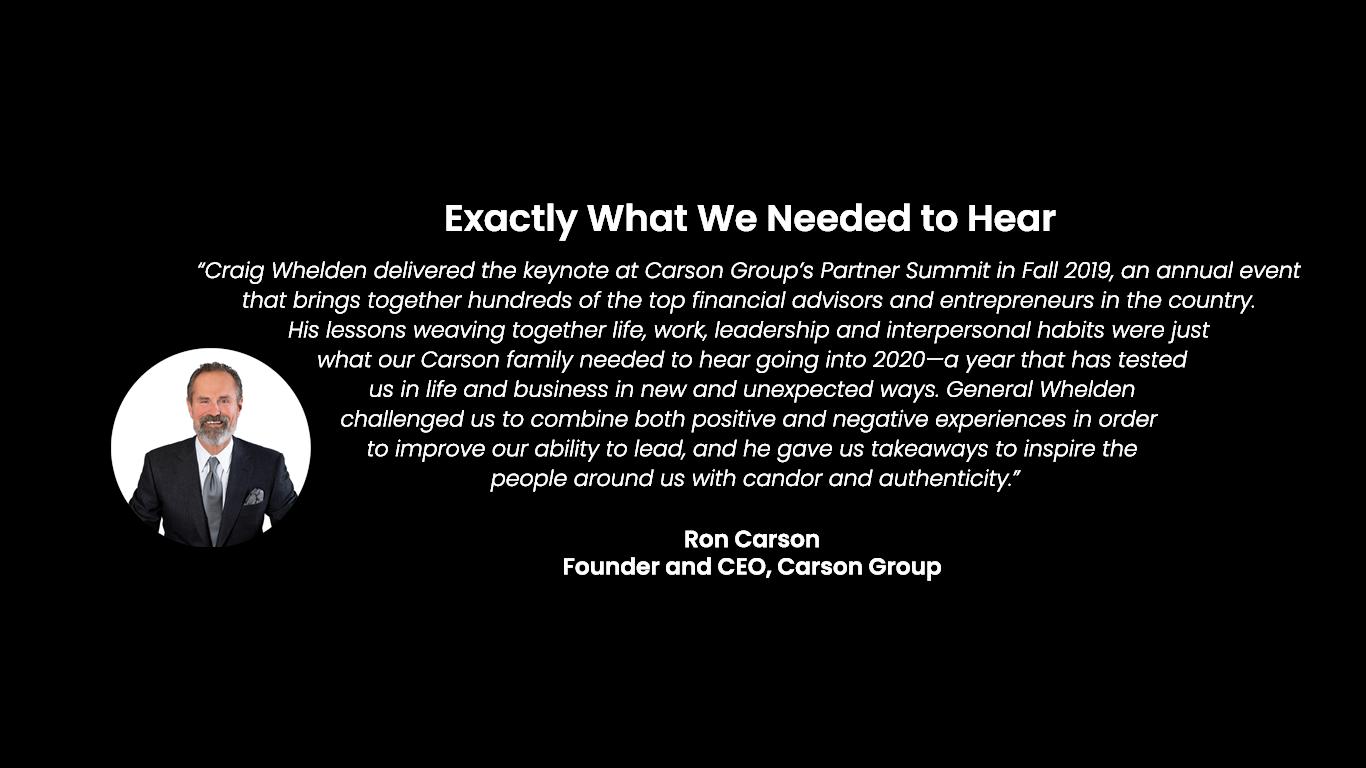 Carson Group - Testimonial