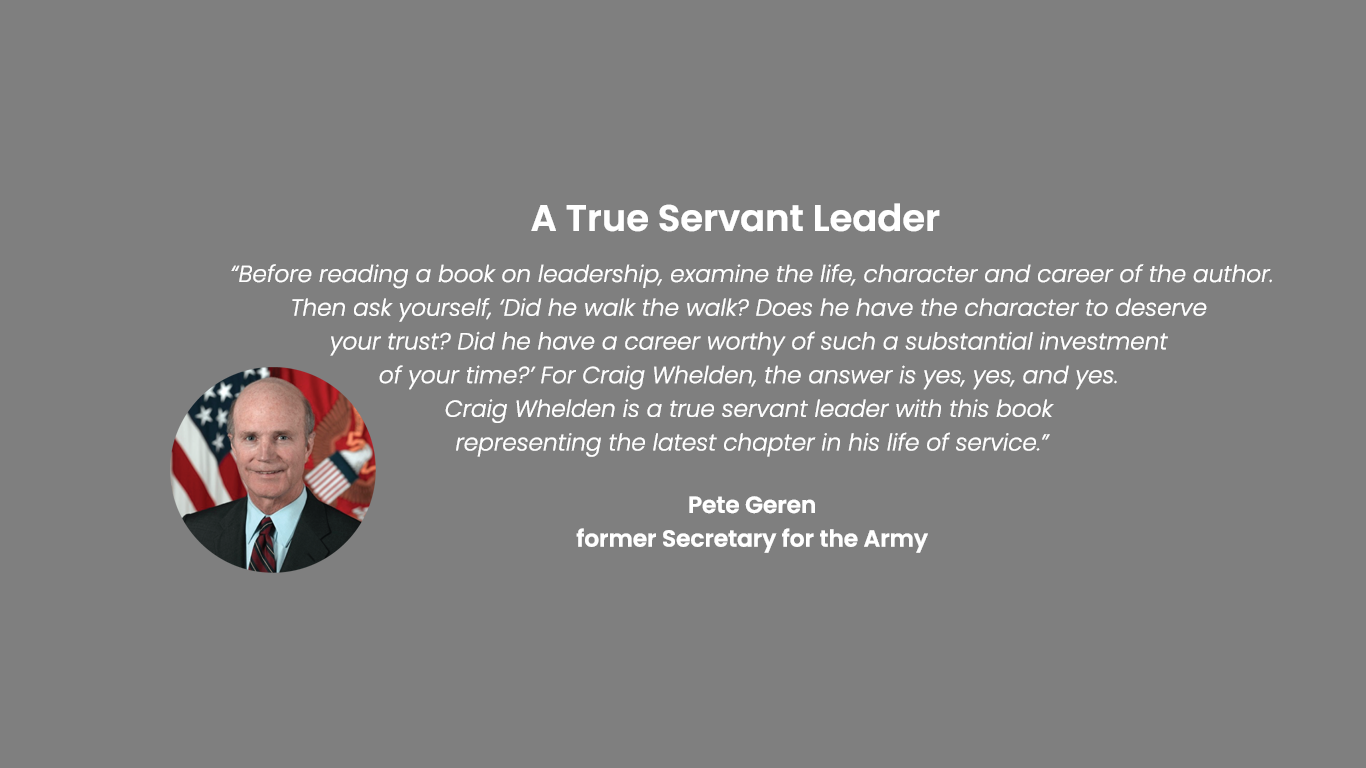 Pete Geren Testimonials